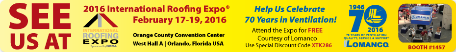 Join Lomanco at IRE 2016