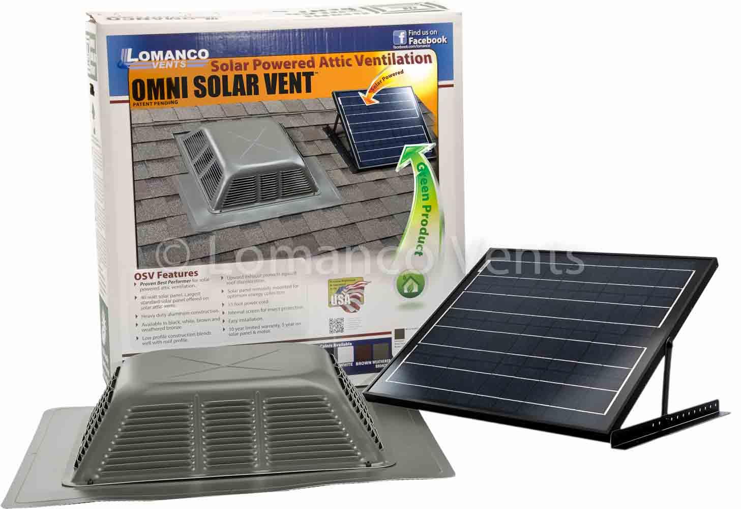 Lomanco Vents Solar Power Vents